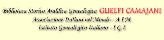 Biblioteca Storico Araldica Genealogica - Genealogia